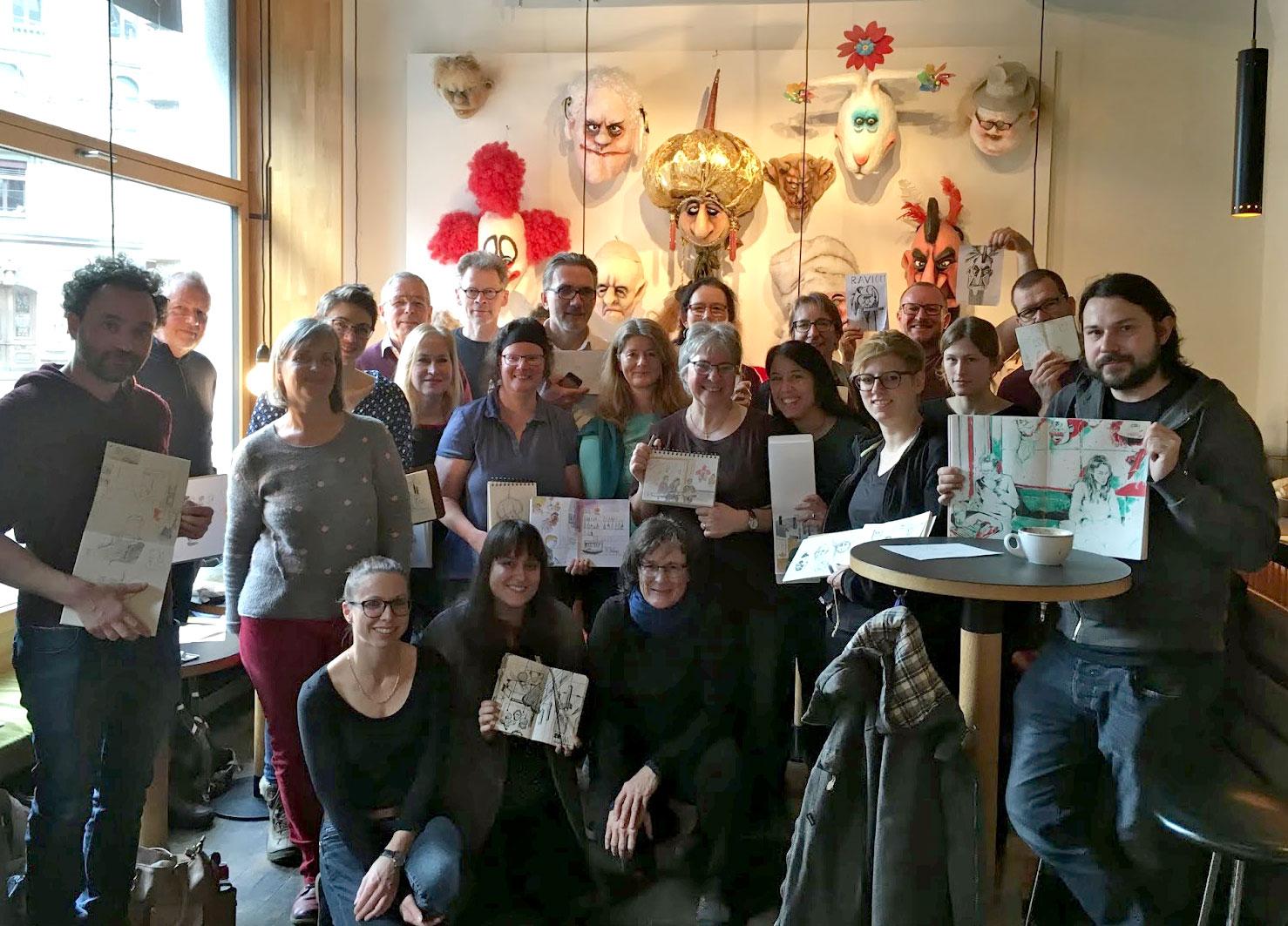 1. Sketchcrawl der Urban Sketchers Luzern!