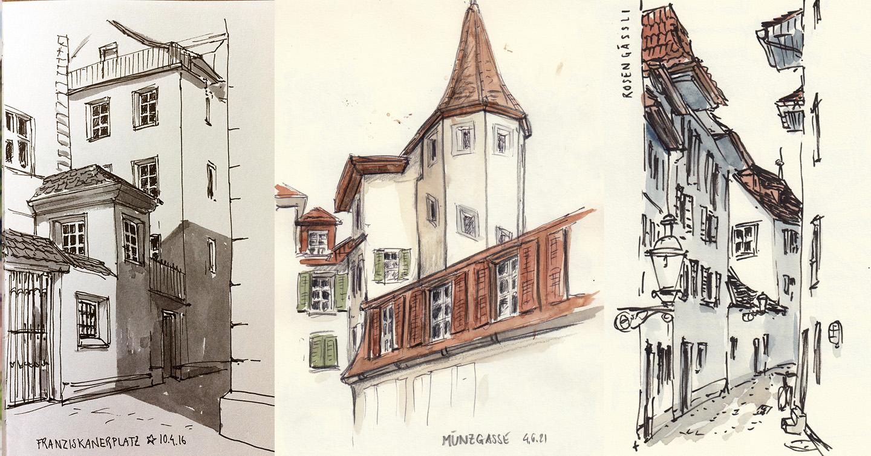 27. Juni 2021, Sketchcrawl Kleinstadt Luzern