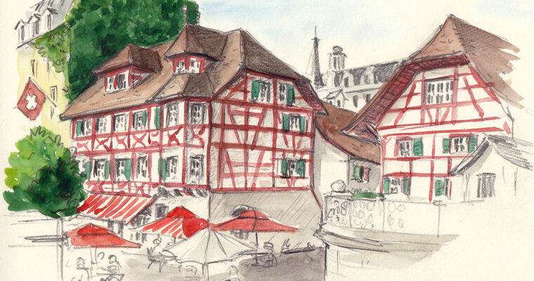 25. Juli 2021, Sketchcrawl Hofkirche Luzern